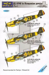 Aeromaster Products  1/48 Bf.109E in Romanian Service Part I LFMC4807