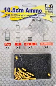 AFV Club  1/35 10.5cm Ammo for German LeFH18 Howitzer Wespe AFV35074