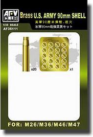 AFV Club  1/35 US Army 90mm Turn Brass Shell AFV35111