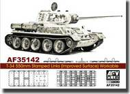 AFV Club  1/35 T-34 550mm Stamped Links (Improved Surface) Workable AFV35142