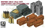 AFV Club  1/35 British Bofors & M42 40mm Gun Ammo & Accessory Set AFV35189