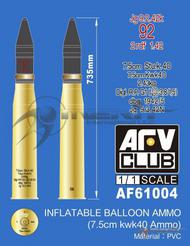 AFV Club  1/1 Inflatable Balloon Ammo (7.5cm KWK40 Ammo) AFV61004