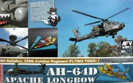 AFV Club  1/72 AH64D Apache Longbow 8th Battalion, 229th Aviation Rgmt. Flying Tiger Attack Helicopter AFV72S01