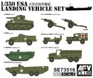 AFV Club  1/350 WWII US Landing Vehicle Set (9) AFV73516