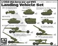AFV Club  1/350 WWII US Landing Vehicle Set Korean War Set 2 (10) (New Tool) AFV73517