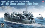 AFV Club  1/350 USN LST491 Class Type 2 Landing Ship Tank (New Tool) - Pre-Order Item AFV73519