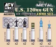 AFV Club  1/35 US M256 120mm Ammo Set (for M1A1 M1A2 Abrams Tank) AFVAG35051