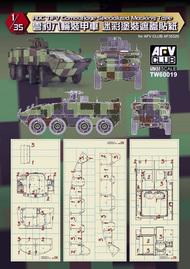 "AFV Club  1/35 CM32/33 ""Cloud Leopard"" Camouflage Pattern Masking Tape AFVTW60019"