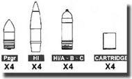 AFV Club  1/35 10.5cm Ammo AFV35074