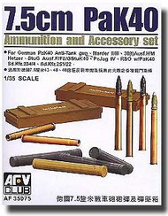 AFV Club  1/35 German PaK 40 Ammo & Case AFV35075