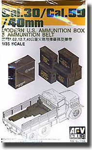 AFV Club  1/35 Cal .30/ Cal .50/ 40mm Ammo Boxes AFV35035