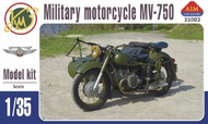 Aim Fan Model  1/35 MV-750 Soviet military motorcycle with sideca AMF35003