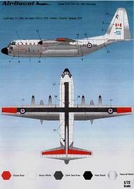 Airdecal  1/72 Lockheed CC-130E Hercules RCAF High viz scheme ADTS7218