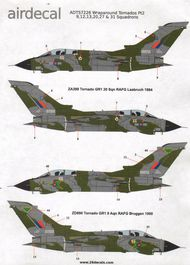 Airdecal  1/72 RAF Grey/Green wraparound Panavia Tornado GR.1 part 2See Xtradecal X48135 for these Tornados in 1:48 scale. ADTS7226