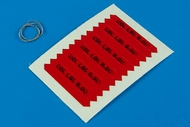 AeroBonus by Aires  1/32 Remove Before Flight Flags IDF Black Lettering ABN320011