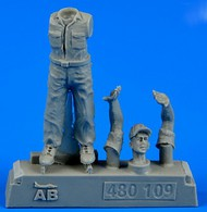 AeroBonus by Aires  1/48 WWII US Army Aircraft Mechanic #3 Pacific Theatre (Standing, arms up as to stop) ABN480109
