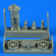 AeroBonus by Aires  1/48 WWI German/Austro-Hungarian Aircraft Mechanic w/handling Tail Skid Hand Cart ABN480218