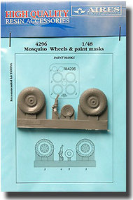 Aires  1/48 Mosquito Wheels and Paint Mask- Type B AHM4296
