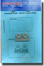 Aires  1/48 Dewoitine D.520 Wheels and Paint Mask AHM4297