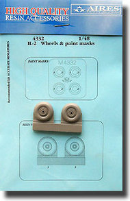 Aires  1/48 Il-2 Wheels and Paint Mask AHM4332