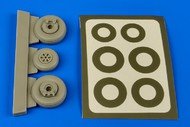 Aires  1/48 OV1 Mohawk Wheels & Paint Masks For ROD AHM4614