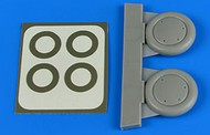 Aires  1/48 Gloster Gladiator Wheels & Paint Mask For ROD & EDU AHM4717