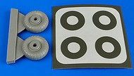 Aires  1/72 Dornier Do.17 Wheels & Paint Masks For ARX (D)<!-- _Disc_ --> AHM7330