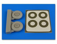 Aires  1/72 Beaufighter Wheels (5-Spoke) & Paint Masks For ARX (D)<!-- _Disc_ --> AHM7346
