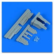 MiG-29 Fulcrum Undercarriage Covers w/Clear Part #QUB48905
