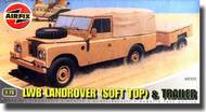 Airfix  1/76 LWB Landrover (Soft Top) And Trailer ARX2322