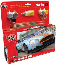 Airfix  1/32 Aston Martin DBR9 Gulf Race Car Large Starter Set w/paint & glue ARX50110