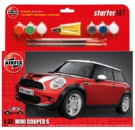 Airfix  1/32 Mini Cooper S Car Large Starter Set w/paint & glue ARX50125