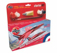 Folland Gnat T.1 Red Arrows. Starter Set includes Acrylic paints, brushes and poly cement #ARX55105