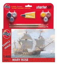 Airfix  1/400 Mary Rose (gift or starter set with paints, paint brush and poly cement) ARX55114