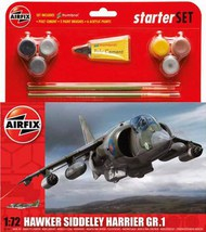 BAe Harrier GR.1 Starter Set includes Acrylic paints, brushes and poly cement #ARX55205