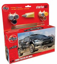 Airfix  1/32 Ford Fiesta WRC Starter Set includes Acrylic paints, brushes and poly cement (15SHUS) ARX55302