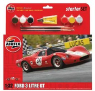 Airfix  1/32 Ford 3 Litre GT Race Car Large Starter Set w/paint & glue ARX55308