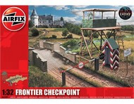 WWII Frontier Checkpoint: High Tower, Bridge w/Brick Walls, Gate, Guard Shed #ARX6383