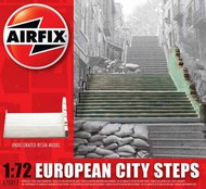 Airfix  1/76 European City Steps. READY BUILT UNPAINTED RESIN BUILDINGS Re-issue ARX75017