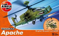 Airfix  Snap Quick Build Apache Helicopter (Snap) ARXJ6004