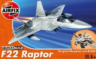 Airfix  Snap Quick Build F22 Raptor Fighter (Snap) ARXJ6005