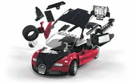 Airfix  Snap Quick Build Bugatti Veyron 16.4 Car (Snap) ARXJ6020