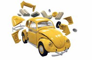 Airfix   N/A VW Beetle QUICK BUILD (No glue or paint required) ARXJ6023