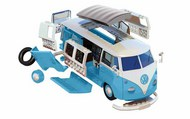 Airfix   N/A VW Camper Van QUICK BUILD Blue (No glue or paint required) ARXJ6024