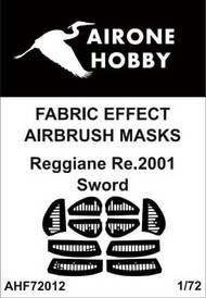 Airone Hobby  1/72 Reggiane Re.2001 fabric effect aileron and control surfaces airbrush masks AHF72012