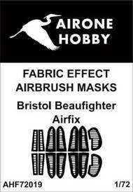 Airone Hobby  1/72 Bristol Beaufighter Mk.X fabric effect aileron and control surfaces airbrush masks AHF72019