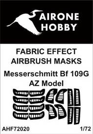 Airone Hobby  1/72 Messerschmitt Bf.109G fabric effect aileron and control surfaces airbrush masks AHF72020
