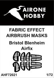 Airone Hobby  1/72 Bristol Blenheim fabric effect aileron and control surfaces airbrush masks AHF72021