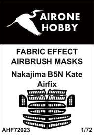Airone Hobby  1/72 Nakajima B5N2 'Kate' fabric effect aileron and control surfaces airbrush masks AHF72023