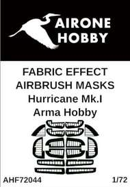 Airone Hobby  1/72 Hawker Hurricane Mk.I fabric effect aileron and control surfaces airbrush masks AHF72044